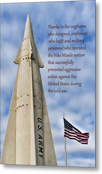 Nike Missile Thanks Metal Print