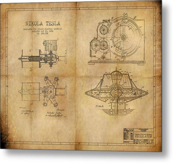 Nikola Telsa's Work Metal Print