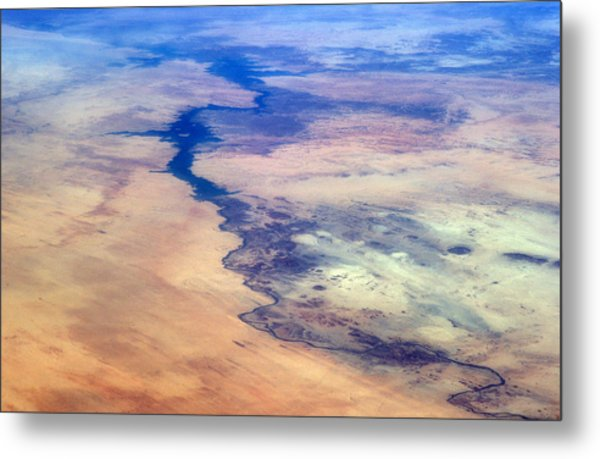 Nile River From The Iss Metal Print