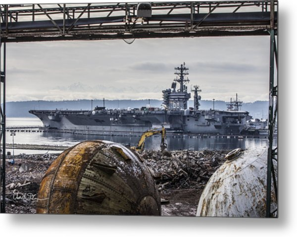 Nimitz - Port Of Everett Metal Print