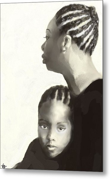 Nina And Lisa Simone Metal Print