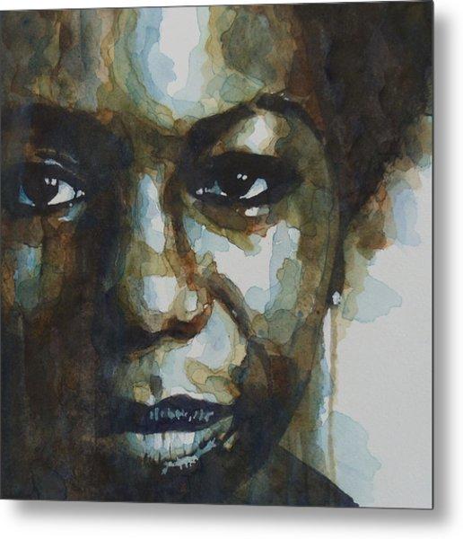 Nina Simone Ain't Got No Metal Print