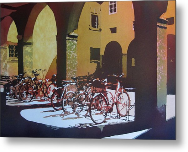 Nine Bicycles Metal Print
