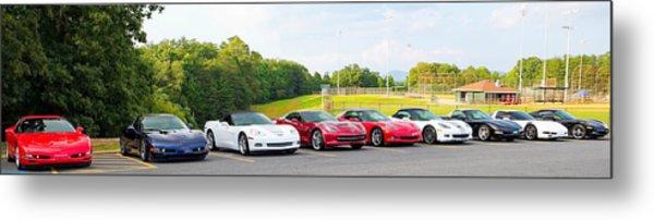 Nine Corvettes Is A Team Metal Print