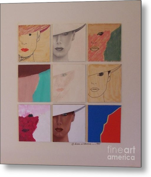 Nine Ladies Lolling Metal Print