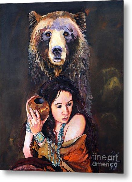 Nine Stars Woman - Bear Medicine Metal Print