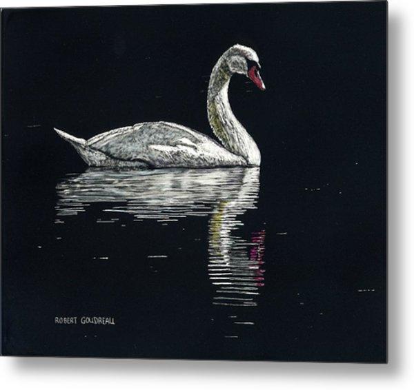 Nino's Swan Metal Print by Robert Goudreau