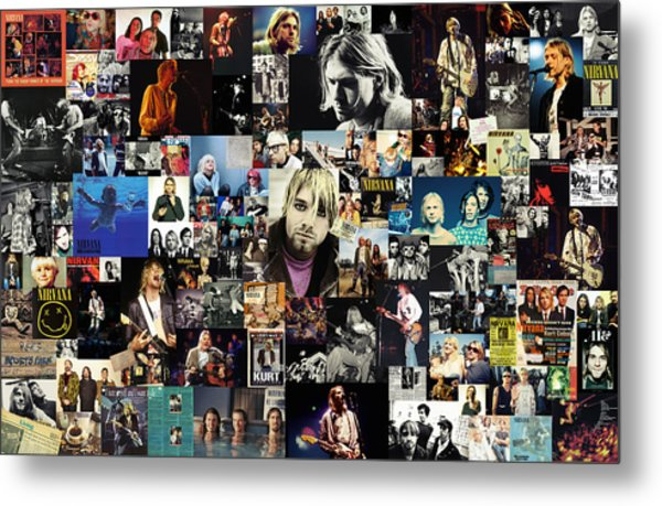 Nirvana Collage Metal Print
