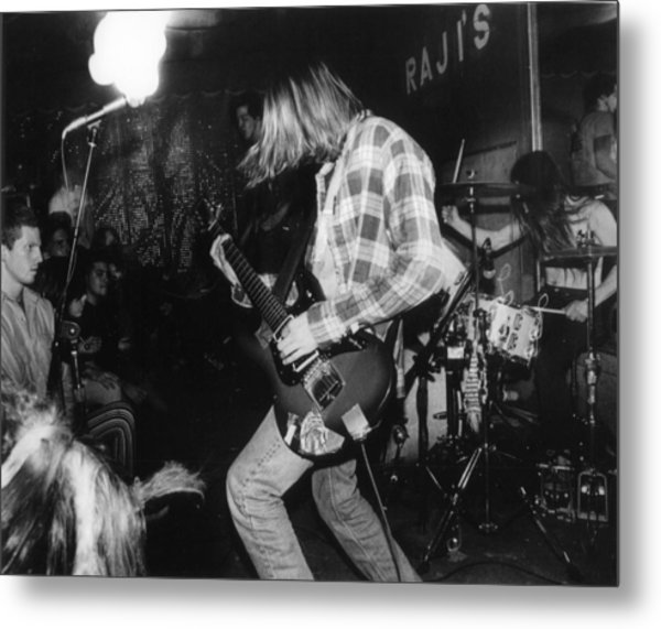 Nirvana Playing In Front Of Crowd Metal Print