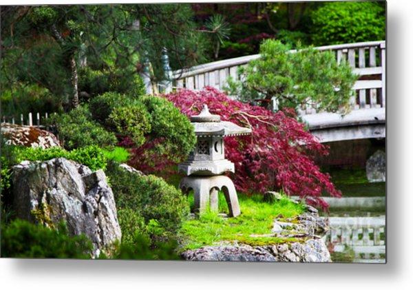Nishinomiya Japanese Garden Metal Print by Chris Heitstuman
