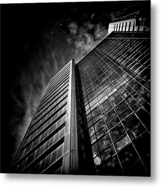 Metal Print featuring the photograph No 123 Front St W Toronto Canada by Brian Carson