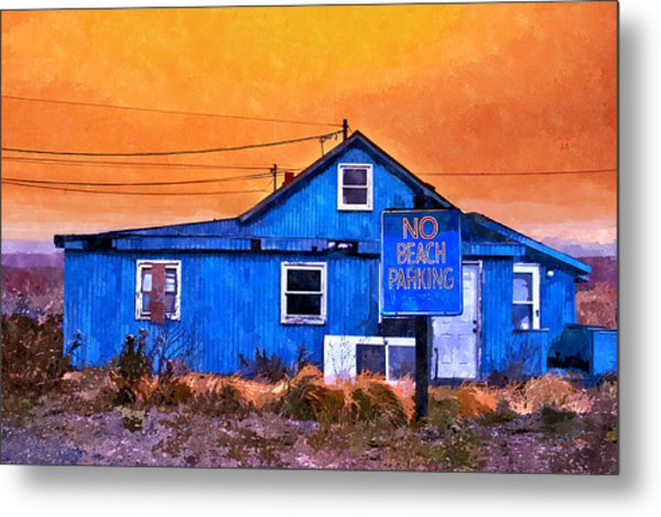 No Beach Parking Metal Print