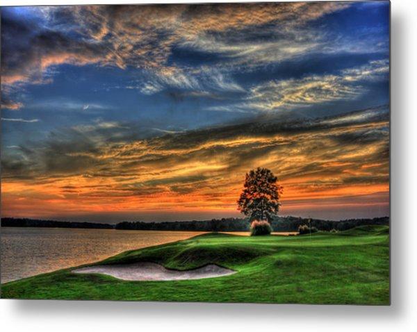 No Better Day Golf Landscape Art Metal Print