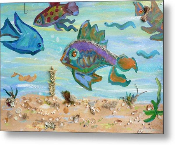 No Fishing Metal Print by Brenda Ruark