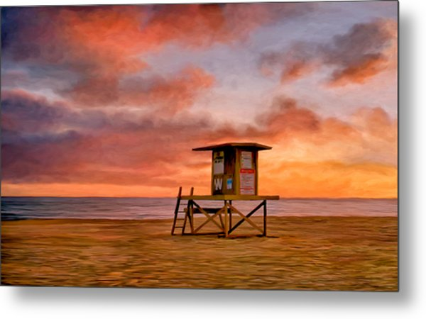 No Lifeguard On Duty At The Wedge Metal Print