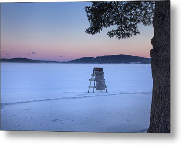 No Lifeguard Spofford Lake Metal Print
