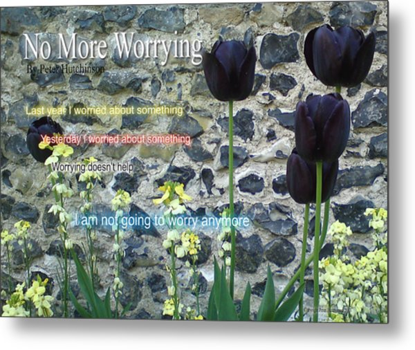 No More Worrying Metal Print