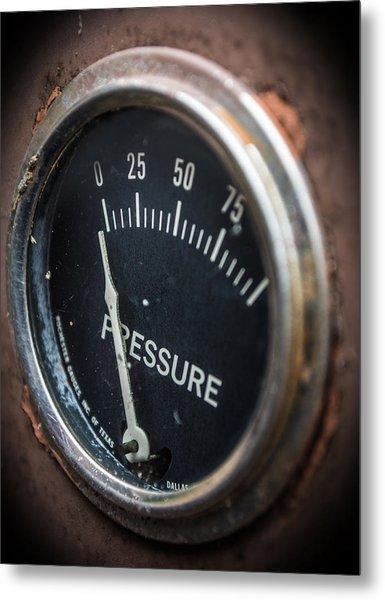 No Pressure Metal Print