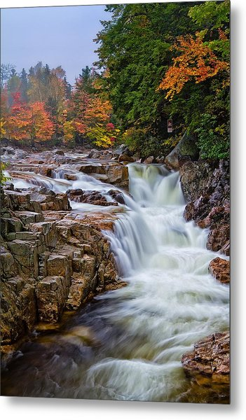 Metal Print featuring the photograph No Swimming Rocky Gorge Albany Nh by Jeff Sinon
