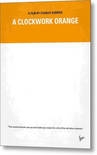 No002 My A Clockwork Orange Minimal Movie Poster Metal Print