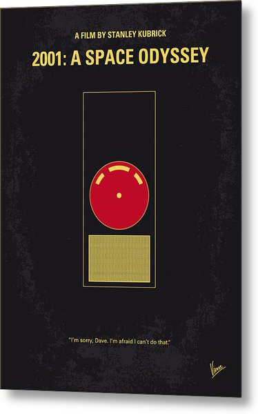 No003 My 2001 A Space Odyssey 2000 Minimal Movie Poster Metal Print