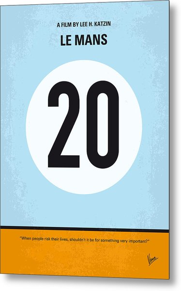 No038 My Le Mans Minimal Movie Poster Metal Print