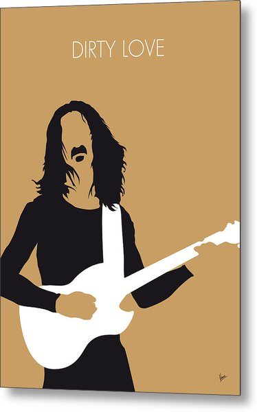 No040 My Frank Zappa Minimal Music Poster Metal Print