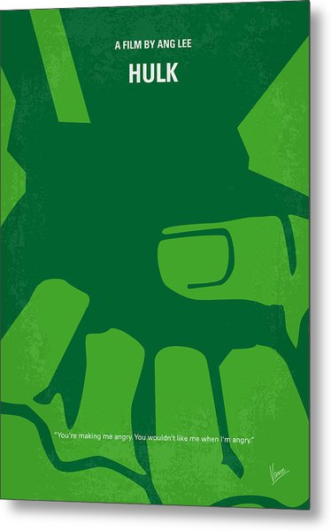 No040 My Hulk Minimal Movie Poster Metal Print