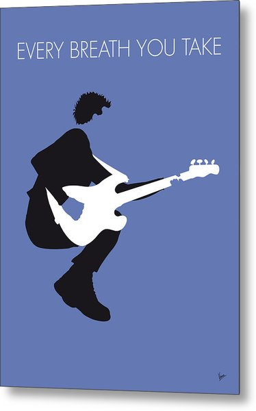 No058 My The Police Minimal Music Poster Metal Print