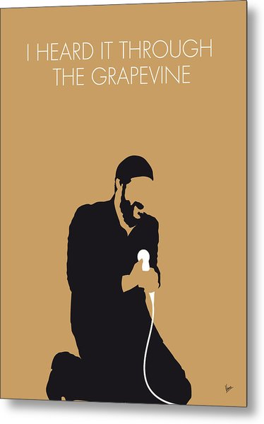 No060 My Marvin Gaye Minimal Music Poster Metal Print