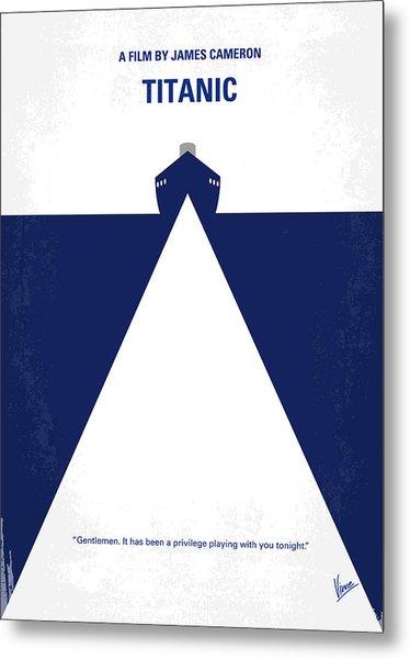 No100 My Titanic Minimal Movie Poster Metal Print
