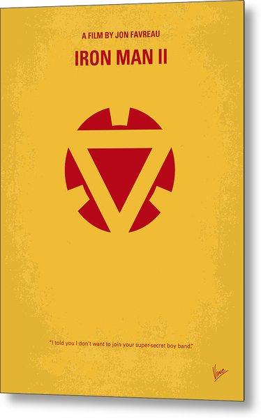 No113 My Iron Man Minimal Movie Posterno113-2 My Iron Man 2 Minimal Movie Poster Metal Print