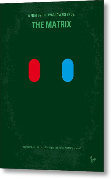 No117 My Matrix Minimal Movie Poster Metal Print