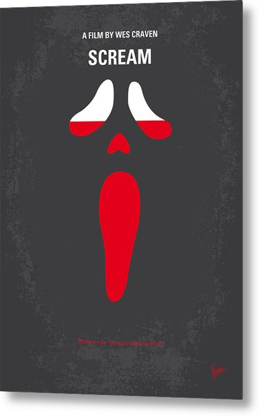 No121 My Scream Minimal Movie Poster Metal Print