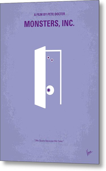 No161 My Monster Inc Minimal Movie Poster Metal Print