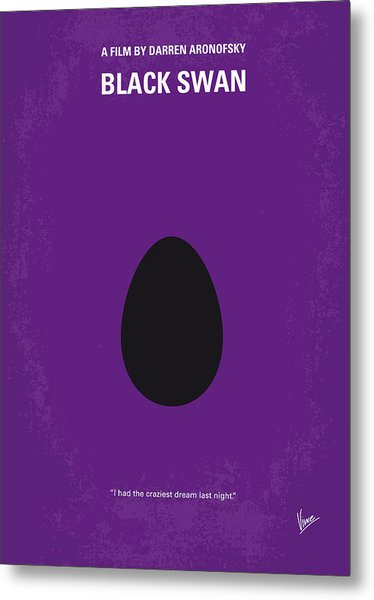 No162 My Black Swan Minimal Movie Poster Metal Print