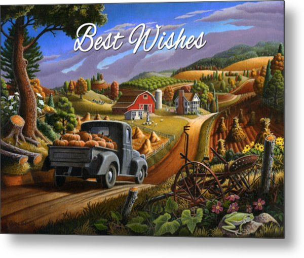 no17 Best Wishes Metal Print by Walt Curlee