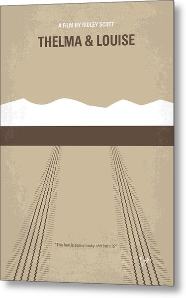 No189 My Thelma And Louise Minimal Movie Poster Metal Print