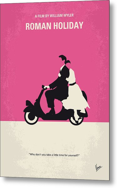 No205 My Roman Holiday Minimal Movie Poster Metal Print
