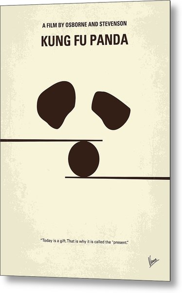No227 My Kung Fu Panda Minimal Movie Poster Metal Print
