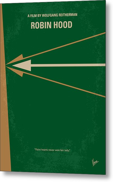 No237 My Robin Hood Minimal Movie Poster Metal Print
