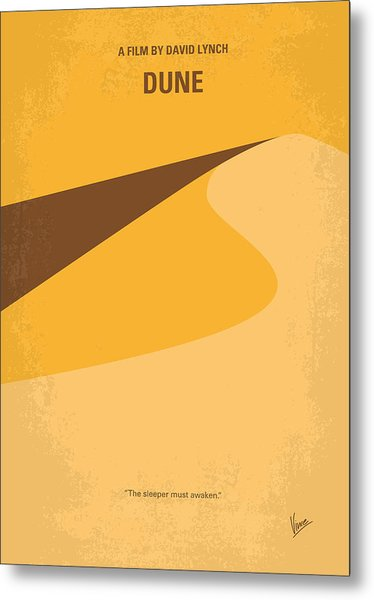 No251 My Dune Minimal Movie Poster Metal Print