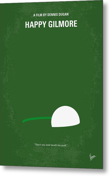No256 My Happy Gilmore Minimal Movie Poster Metal Print