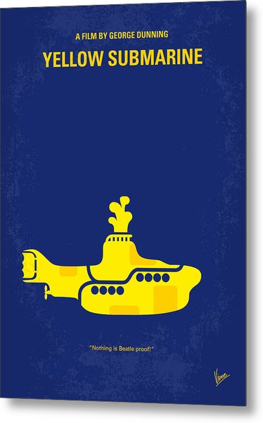 No257 My Yellow Submarine Minimal Movie Poster Metal Print