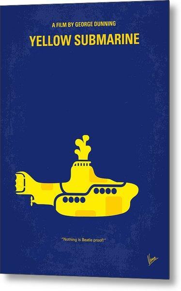 No257 My Yellow Submarine Minimal Movie Poster Metal Print