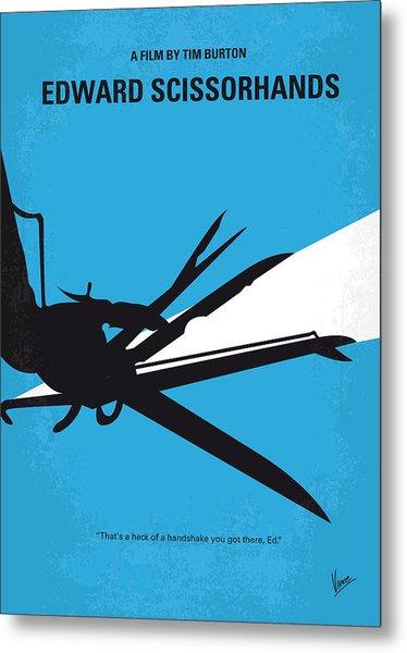 No260 My Scissorhands Minimal Movie Poster Metal Print