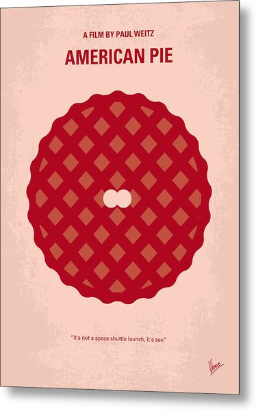 No262 My American Pie Minimal Movie Poster Metal Print