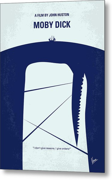 No267 My Moby Dick Minimal Movie Poster Metal Print