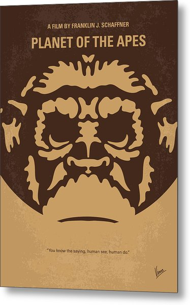 No270 My Planet Of The Apes Minimal Movie Poster Metal Print