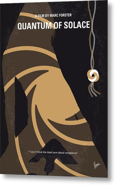 No277-007-2 My Quantum Of Solace Minimal Movie Poster Metal Print